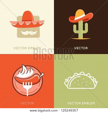 Vector Set Of Abstract Logo Design Templates And Badges