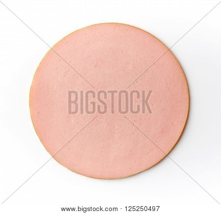 Boiled Ham Sausage Isolated On White Background