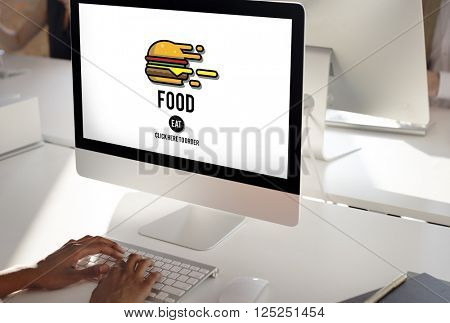 Food Burger Dining Eating Nourishment Concept