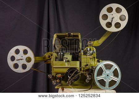 photo of an old war movie projector