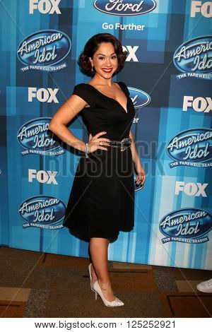 LOS ANGELES - APR 7:  Diana DeGarmo at the American Idol FINALE Arrivals at the Dolby Theater on April 7, 2016 in Los Angeles, CA
