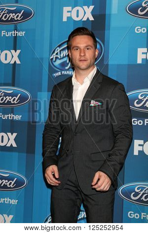 LOS ANGELES - APR 7:  Blake Lewis at the American Idol FINALE Arrivals at the Dolby Theater on April 7, 2016 in Los Angeles, CA