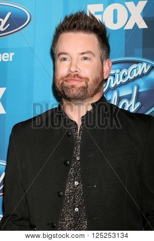 LOS ANGELES - APR 7:  David Cook at the American Idol FINALE Arrivals at the Dolby Theater on April 7, 2016 in Los Angeles, CA