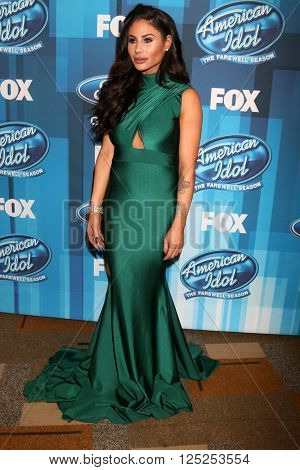 LOS ANGELES - APR 7:  Mikalah Gordon at the American Idol FINALE Arrivals at the Dolby Theater on April 7, 2016 in Los Angeles, CA