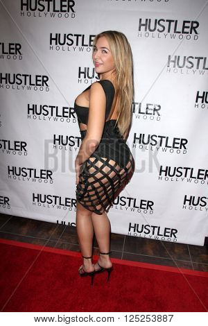 LOS ANGELES - APR 9:  Blair Williams at the Hustler Hollywood Grand Opening at the Hustler Hollywood on April 9, 2016 in Los Angeles, CA