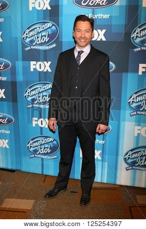 LOS ANGELES - APR 7:  Michael Weston at the American Idol FINALE Arrivals at the Dolby Theater on April 7, 2016 in Los Angeles, CA
