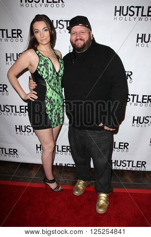 LOS ANGELES - APR 9:  Rachel Mulins, Stephen Kramer Glickman at the Hustler Hollywood Grand Opening at the Hustler Hollywood on April 9, 2016 in Los Angeles, CA
