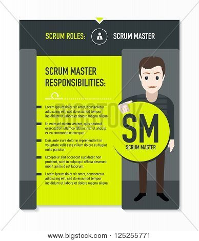 Scrum roles - Scrum master responsibilities template in scrum development process