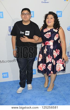 LOS ANGELES - APR 7:  Rico Rodriguez, Raini Rodriguez at the WE Day California 2016 at the The Forum on April 7, 2016 in Inglewood, CA
