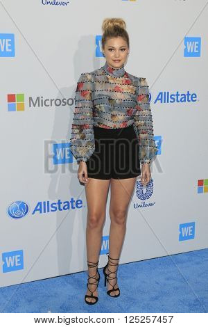 LOS ANGELES - APR 7:  Olivia Holt at the WE Day California 2016 at the The Forum on April 7, 2016 in Inglewood, CA