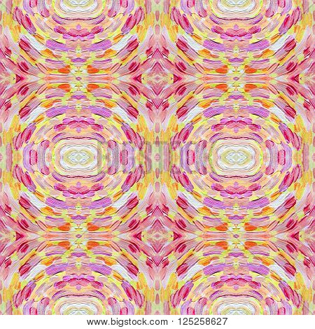 Small pattern with short hand drawn strokes. Seamless kaleidoscopic texture in impressionism style for web print fabric textile website invitation card background fashion or your design.