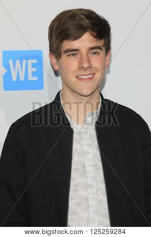LOS ANGELES - APR 7:  Connor Franta at the WE Day California 2016 at the The Forum on April 7, 2016 in Inglewood, CA