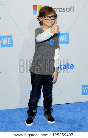 LOS ANGELES - APR 7:  Jacob Tremblay at the WE Day California 2016 at the The Forum on April 7, 2016 in Inglewood, CA
