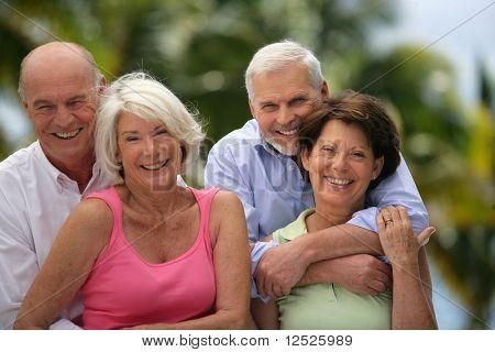 Gruppe von happy senior people