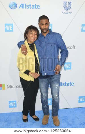 LOS ANGELES - APR 7:  Myra Anderson, Big Sean at the WE Day California 2016 at the The Forum on April 7, 2016 in Inglewood, CA