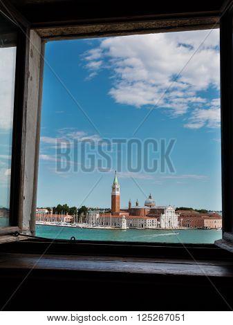 San Giorgio Maggiore Isle: View From A Window, Venice, Italy
