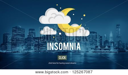 Sleep Apnea Insomnia Sleep Deprivations Disorders Sleepless Concept