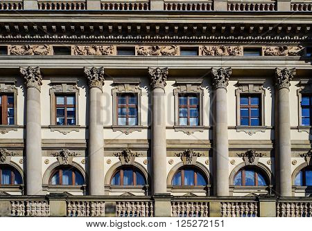 Front of the Opera Wiesbaden, Hesse Germany