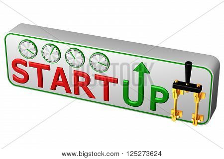 Concept: Startup, isolated on white background. 3D rendering.