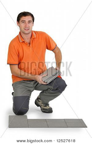 Tiler with white background