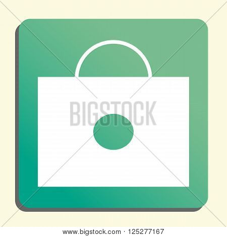 Briefcase Icon In Vector Format. Premium Quality Briefcase. Web Graphic Briefcase Sign On Green Ligh