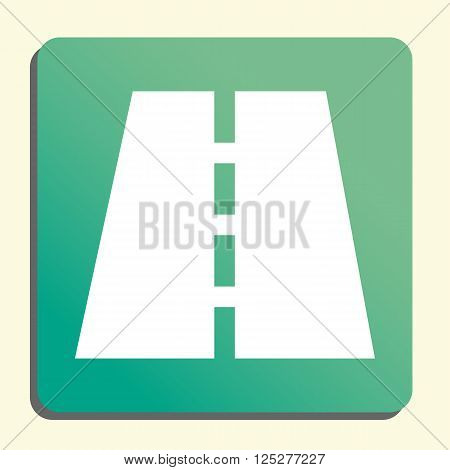 Road Icon In Vector Format. Premium Quality Road. Web Graphic Road Sign On Green Light Background.