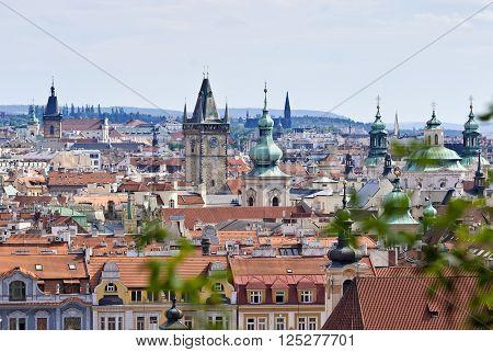 Prague Overview from Letna in Czech Republic