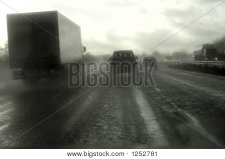 Motorway Wet Traffic