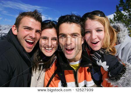 Retrato de un grupo de amigos