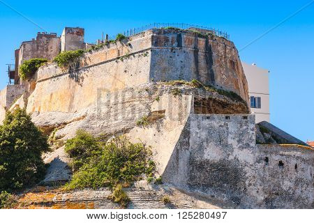 Living Houses And Old Citadel Of Bonifacio