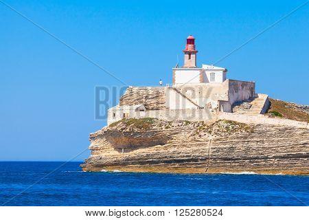 Corsica, Corse-du-sud. Madonetta Lighthouse
