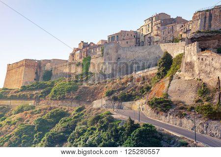 Bonifacio Citadel In Morning Sunlight, Corsica