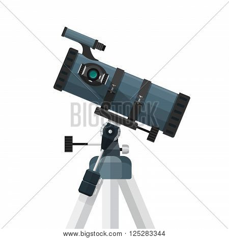 Vector Flat Reflecting Telescope Illustration.