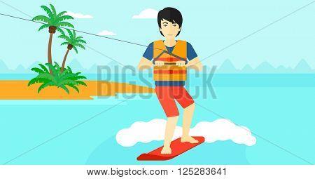 Professional wakeboard sportsman.