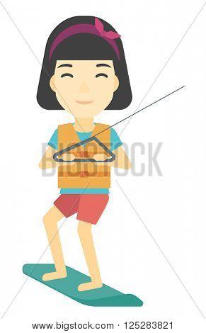Professional wakeboard sportswoman.