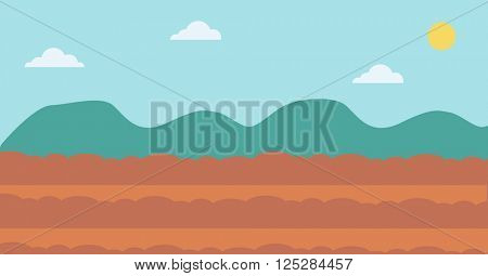 Background of plowed agricultural field.