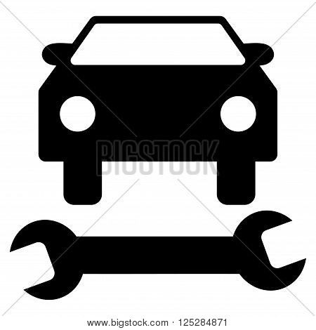 Car Repair vector icon. Car Repair icon symbol. Car Repair icon image. Car Repair icon picture. Car Repair pictogram. Flat black car repair icon. Isolated car repair icon graphic.