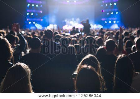 Spectators At The Concert.