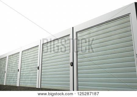3d illustration of storage units isolated on white background