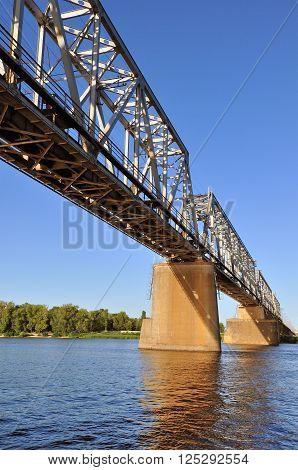 Rail Bridge over the Dnepr river in the Kiev