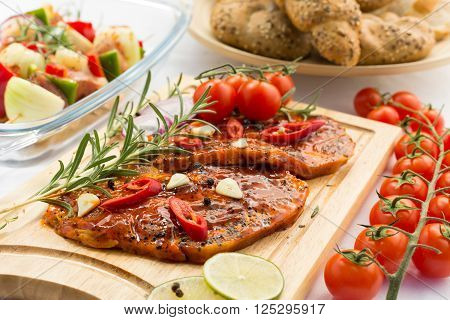 Marinated Meat Ready For A Grill
