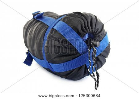 Sleeping bag, isolated on white