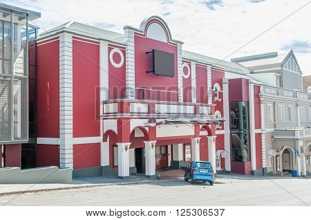 PORT ELIZABETH SOUTH AFRICA - FEBRUARY 27 2016: Part of the Opera House and Barn Theatre in Port Elizabeth. It was opened in 1892 and is a proclaimed national monument