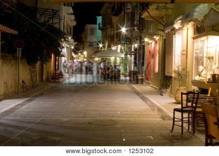 Nacht Straße Nafplio Griechenland