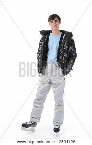 man with skates