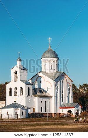 St. Alexander Nevsky Church in Gomel, Belarus. Orthodox Church. Spring Season