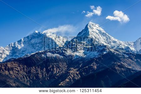The Machhapuchare ( Fish Tail ) seen from Poon Hill in Nepal