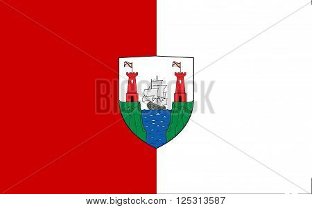 Flag of County Cork is the largest and southernmost county in Ireland. Located in the province of Munster it is named after the city of Cork.
