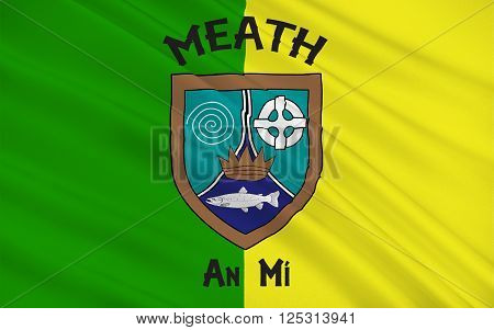 Flag of County Meath is a county in Ireland. It is in the province of Leinster and is part of the Mid-East Region. It is named after the historic Kingdom of Meath. Meath County Council is the local authority for the county.