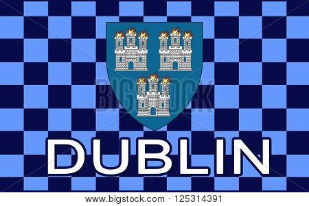 Flag of Dublin is the capital and largest city of Ireland. Dublin is in the province of Leinster on Ireland's east coast at the mouth of the River Liffey